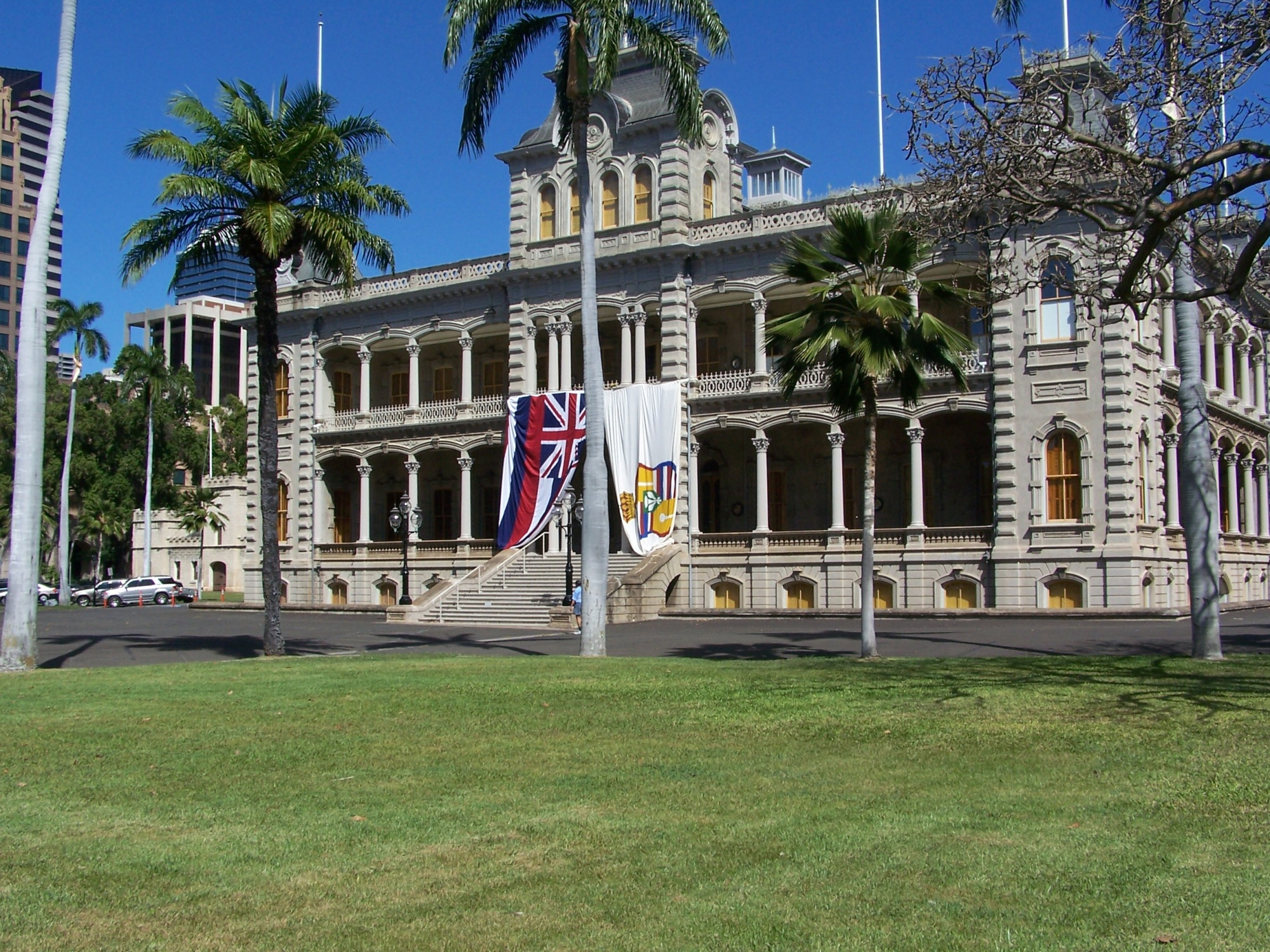 Iolani Palace, during the recognition of King Kalākaua's birthday Photo by Joel CC BY-ND 2.0