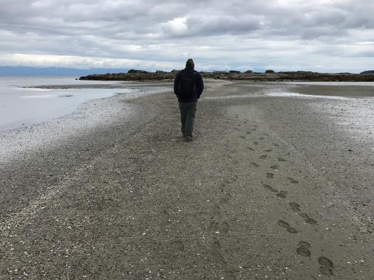 Imai and footprints and Kanaka Bay